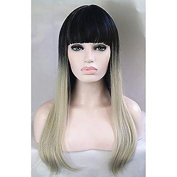 OOFAY JF® pelucas baratas 1b de dos tonos / rubia ombre moda de celebridades peluca