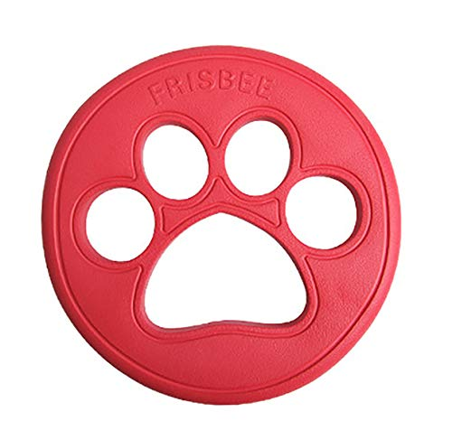 ZoyPet Durable Dog Frisbee Float Nearly Indestructible Flying Disc Dog Toy,Large for Medium to Large Dogs DT101C Red 9.3 inch