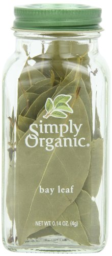 - Simply Organic Bay Leaf Certified Organic, 0.14-Ounce Container