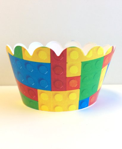 Building Blocks Cupcake Wrappers 24ct