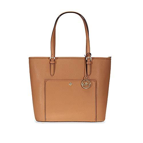 Brown Large Tote Handbag - Michael Kors Womens Jet Set Item Tote Brown (Acorn) 30S6GTTT3L