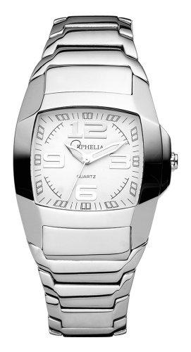 Orphelia 143-7101-18 Men's Analog Quartz Watch with White Dial and Steel Bracelet