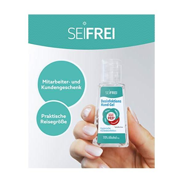 SEIFREI-Desinfektions-Hand-Gel-50-x-30ml-Desinfektionsmittel-optimal-fr-Unterwegs-und-die-Reise-Hoher-Ethanol-Gehalt-Bekmpft-effektiv-999-behllte-Viren-und-Bakterien-Gropackung