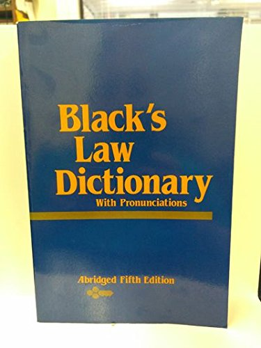 Black's Law Dictionary: Abridged Fifth Edition