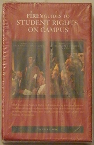 Fire's Guides to Student Rights On Campus - 5 VOL. COLLECTION OF FIVE TITLES - First Year Orientation and Thought Reform, Religious Liberty on Campus, ... Fees, Funding, legal Equality on Campus