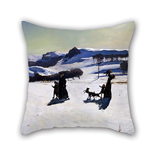 18 X 18 Inches / 45 By 45 Cm Oil Painting Rockwell Kent - Snow Fields (Winter In The Berkshires) Pillow Cases,double Sides Is Fit For Family,deck