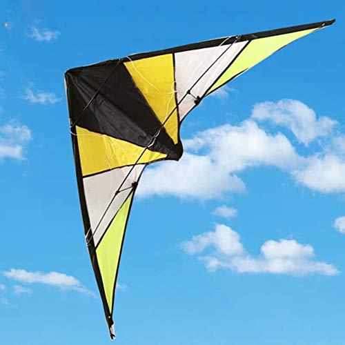 YPKHHH Sports Amusants en Plein air Nouveau 48 Pouces à Deux Lignes de Cerfs-Volants acrobatiques/cerf-Volant Bleu avec poignée et Ligne de Bonne volée
