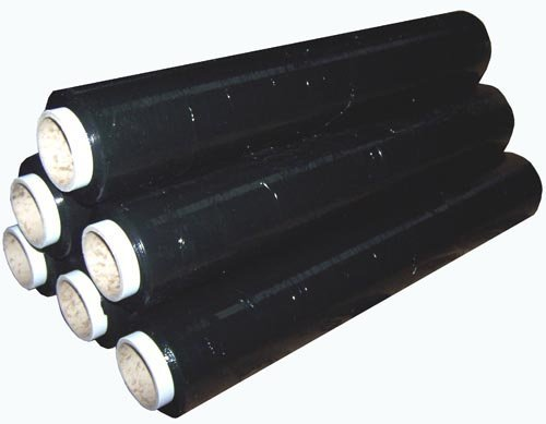 BARGAINS-GALORE® 6 X STRONG ROLLS BLACK PALLET STRETCH SHRINK WRAP CAST PARCEL PACKING CLING FILM MARKSMAN