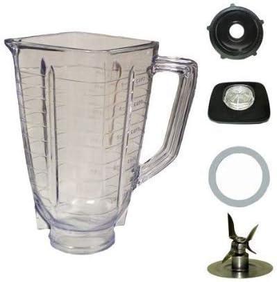 Complete Blendin 5 Cup Square Top Plastic Blender Jar Fits Oster