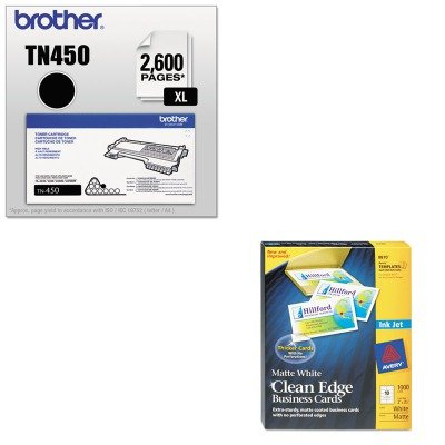 KITAVE8870BRTTN450 - Value Kit - Avery Two-Side Printable Clean Edge Business Cards (AVE8870) and Brother TN450 TN-450 High-Yield Toner (BRTTN450) by Avery
