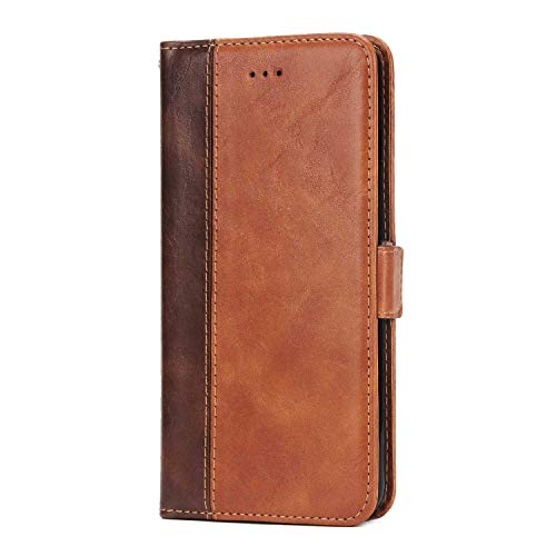 Price comparison product image CUSKING Leather Wallet for Huawei Honor 9,  Premium Ultra Slim Flip Magnetic Case with Card Holders,  Huawei Honor 9 Bumper Case Full Protective Cover - Brown
