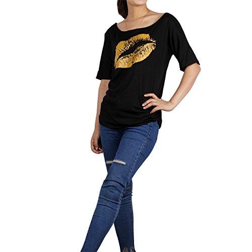 ICOCOPRO - Camiseta sin mangas - para mujer Black Gold