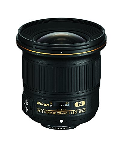 Nikon AF-S FX NIKKOR 20mm f/1.8G ED Fixed Lens with Auto Focus for Nikon DSLR Cameras from Nikon