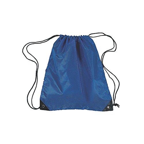 Medium Drawstring Backpacks - Royal Blue by Fun Express