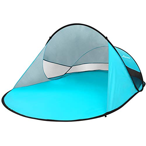 MOVTOTOP Pop Up Beach Tent Shade Sun Shelter UV Protection Beach Canopy for Adults Baby Kids Outdoor Activities Camping Fishing Hiking Picnic Touring