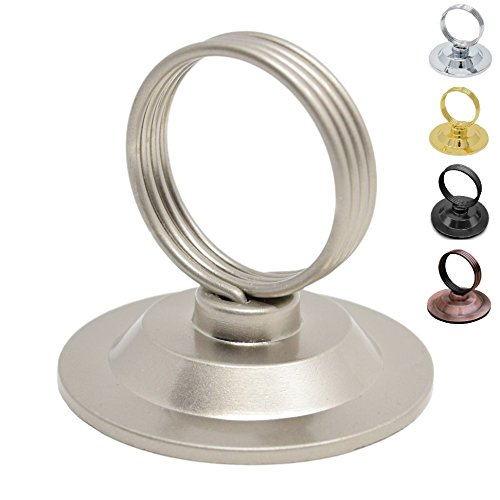 GrayBunny GB-6792SN Place Card Holder, 12 pack, Satin Nickel, Table Card Holder Tabletop Menu Holder Silver Harp-Clip Table Number Recipe Holder Reserved Card Holder For Restaurants Weddings Banquets (Wedding Place Frames Card)