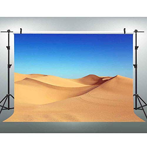 VVM 7x5Ft Desert Landscape Backdrop Sand Dunes and Blue Sky Photography Background Beautiful View Backdrop for Pictures YouTube Background GEVV061