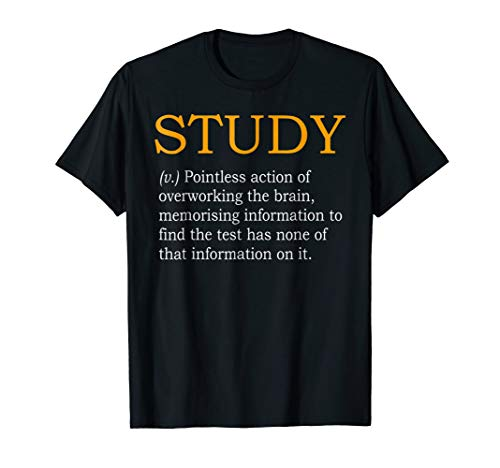 Study Definition Funny Gift for College Student T-Shirt (T-shirt Girls Student College)