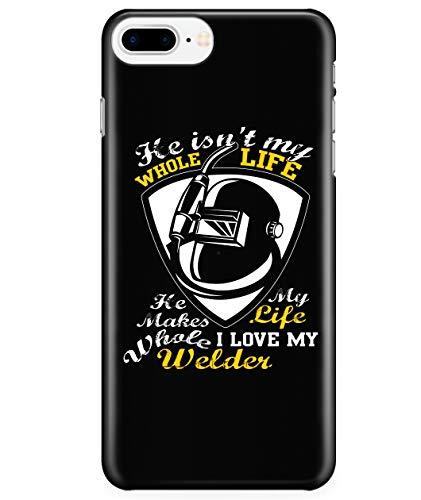 iPhone 7 Plus/7s Plus/8 Plus Case, I Love My Husband Case for Apple iPhone 7 Plus/7s Plus/8 Plus, Welder's Wife iPhone Case (iPhone 7 Plus/7s Plus/8 Plus Case - Black)