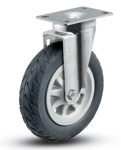 Shepherd-Institutional-Series-6-Diameter-Ball-Bearing-No-Matic-Wheel-Swivel-Caster-3-34-Length-x-2-58-Width-Plate-150-lbs-Capacity-Black
