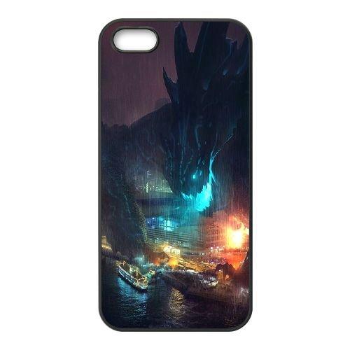 901 Pacific Rim L coque iPhone 5 5S cellulaire cas coque de téléphone cas téléphone cellulaire noir couvercle EOKXLLNCD21161