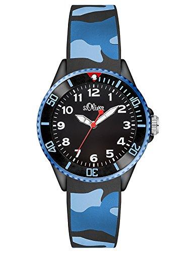 s.Oliver Unisex-Armbanduhr Analog Quarz Silikon