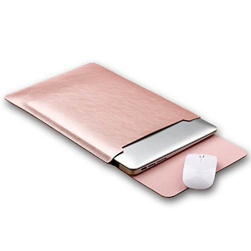 - Funny live 14-15.4 Inch Leather Laptop Bag Sleeve Case Laptop Case Cover Bag Notebook Computer Case/Ultrabook Briefcase Carrying Case, Rose Gold