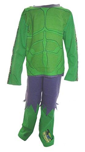The Incredible Hulk Big Boys Pyjamas Ages 9-10 Years (Incredible Hulk Muscle Costume)