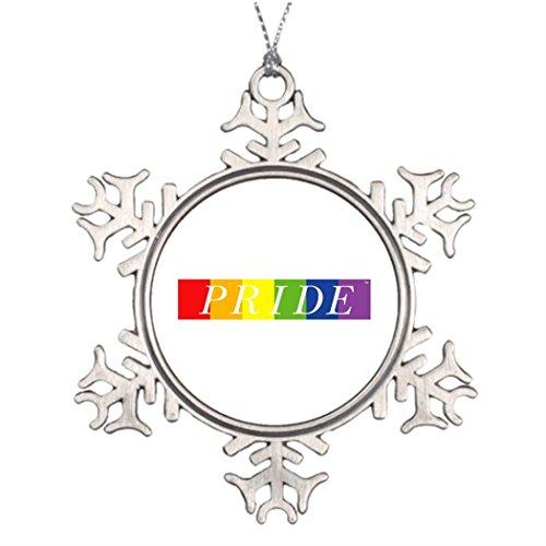 7th Gener Xmas Trees Decorated The Pride Line Cool Snowflake Ornaments Gay (Parade Halloween San Francisco)