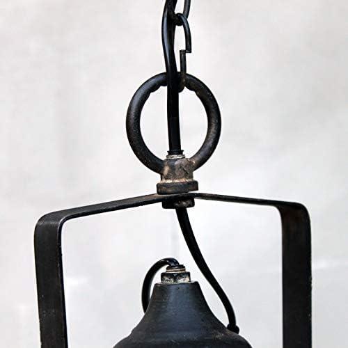 Chic Antique Vintage Deckenlampe antik schwarz Durchmesser 24cm Hängeleuchte Retro Industrie-Design E27
