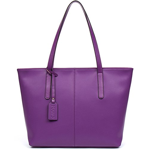 Purple Leather Handbag - 8