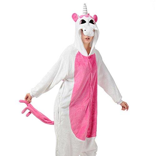 Unicorn/Unicornio Pijama Felpa Trajes En general Ropa de dormir Ropa de noche Ropa de salón Para niños y adultos Rose1