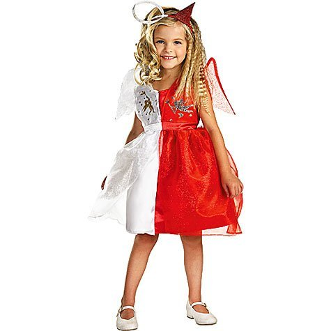 Devilish Angel Child Costume, Size (Half Good Half Bad Angel Costume)