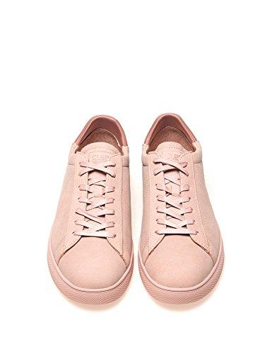 Sneakers In Pelle Martellata Uomo Bergley Rosa Nabuk