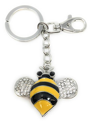 Value Arts Bejeweled Bumblebee Key Chain, 4.5 Inches Long