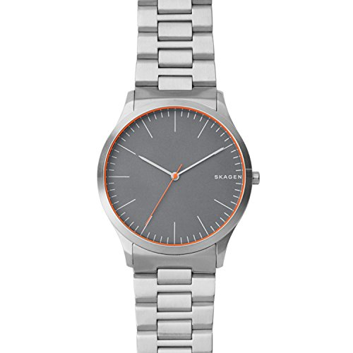 Skagen Men's Jorn Analog-Quartz Watch with Stainless-Steel Strap, Silver, 9 (Model: SKW6423