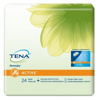 MCK48203101 - Sca Personal Care Bladder Control Pad Tena Serenity Active 10 Inch Length Light Absorbency Polymer Female Disposable