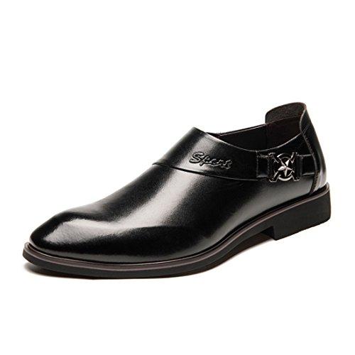 Comfort British Sintetica Style Scarpa Martin di Elegante pelle Inverno in Classico Pelle Scarpe con Stivali velluto Punta Casual Oxfords nero Piedi Affari Scarpa mocassini per uomo Pelle uomo Vestito qnRZH1xw1O