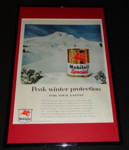 1955 Mobil Gas Oil Framed ORIGINAL 11x17 Advertising Display from Steel City Galleries