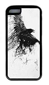 TYH - iPhone 5/5s Case Eagle Wings 2 TPU Custom iPhone 5/5s Case Cover Black ending phone case