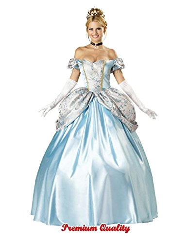 InCharacter Costumes, LLC Women's Enchanting Princess Costume, Blue, (Fairytale Couples Halloween Costumes)