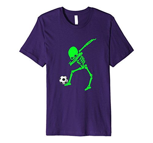 Mens Halloween Dabbing Skeleton Soccer Shirt Dab Pose Soccer Ball Small (Football Related Halloween Costumes)