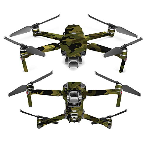 MightySkins Skin for DJI Mavic 2 Pro or Zoom - Green Camouflage | Protective, Durable, and Unique Vinyl Decal wrap Cover | Easy to Apply, Remove, and Change Styles | Made in The USA