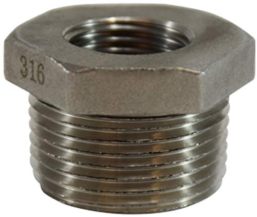 316 Stainless Steel Midland 63-507 316 Stainless Steel Hex BUSHING 3//4 Male x 1//4 Female thread Size 150#
