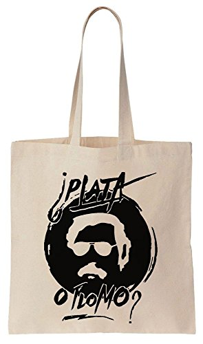 Pablo Escobar PLATA O PLOMO? Sacchetto di cotone tela di canapa