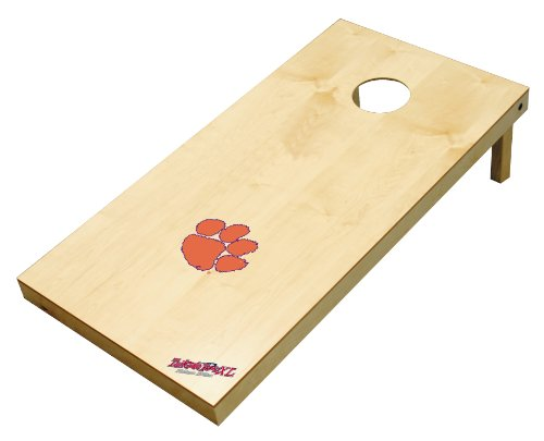 Wild Sports NCAA College Clemson Tigers 2' x 4' Authentic Cornhole Game (College Washer Toss Game)