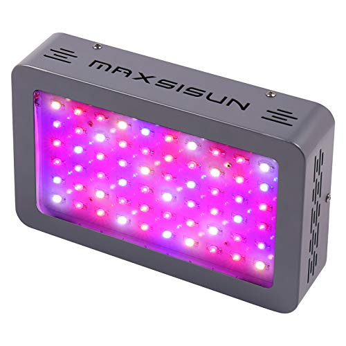 MAXSISUN 300W LED Grow Light Full Spectrum Growing Lights for Indoor Plants Veg and Flower