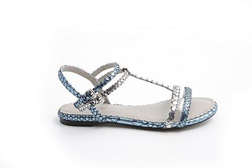 Nadia flatform Sandali 101140 argento Nana Water Pelle Pretty Donna 40HtqnwB