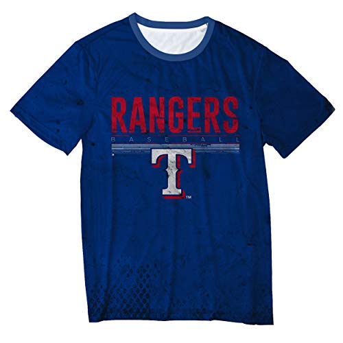 FOCO MLB Texas Rangers Big Logo Half Tone TEE - Mens Double Extra Large