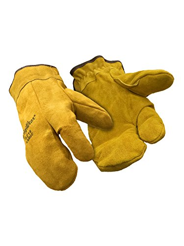 refrigiwear-three-finger-leather-mitt-gold-large